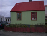 A little house in Stykkishólmur, perhaps the one that the old lady Hildur lives in.