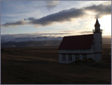 A view of Eyjafjallajökull from the church at Hlídarendi. I had lunch here while researching the book.