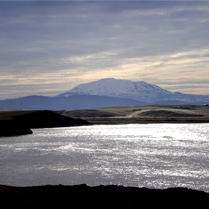 "Mount Hekla. Iceland's most active volcano and the medieval ""Mouth of Hell""."